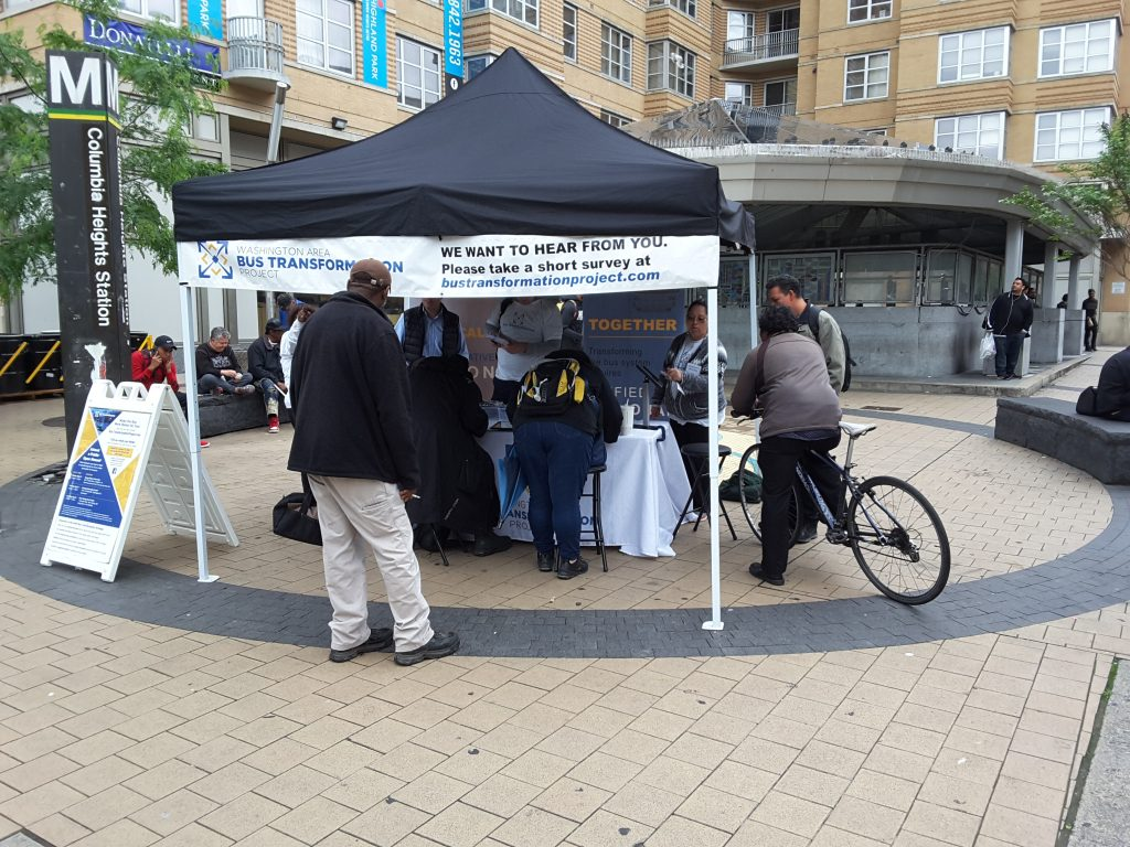 Columbia Heights Metro Station event booth