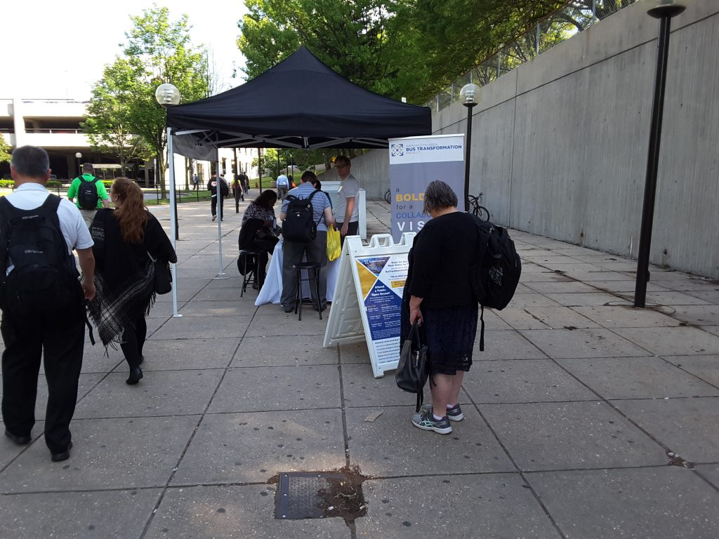 Shady Grove Metro Station event booth