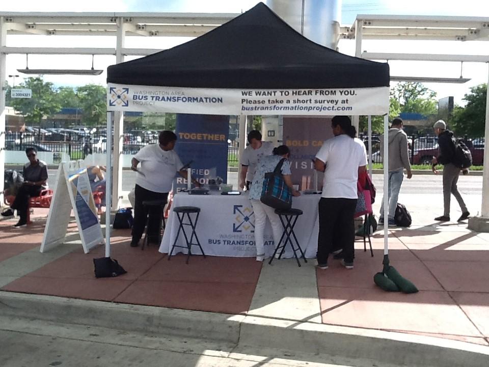 Takoma Langley event booth