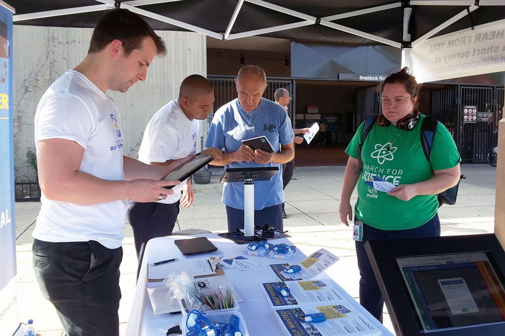 People at the Braddock Road Metrorail Station Event