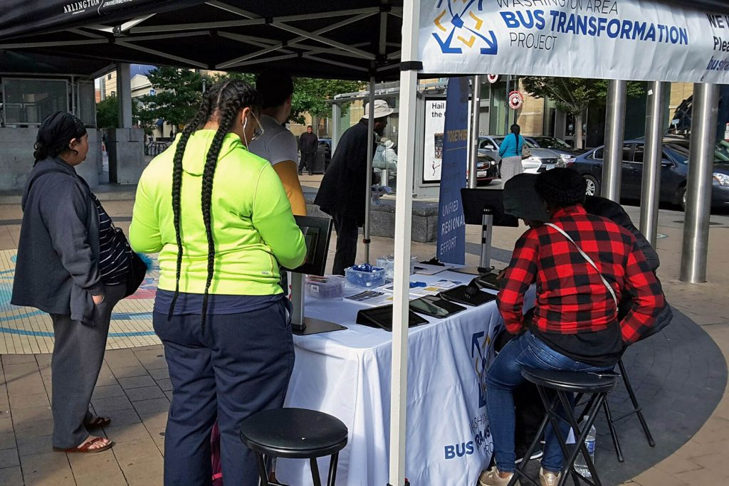 People at the Columbia Heights Metrorail Station Event