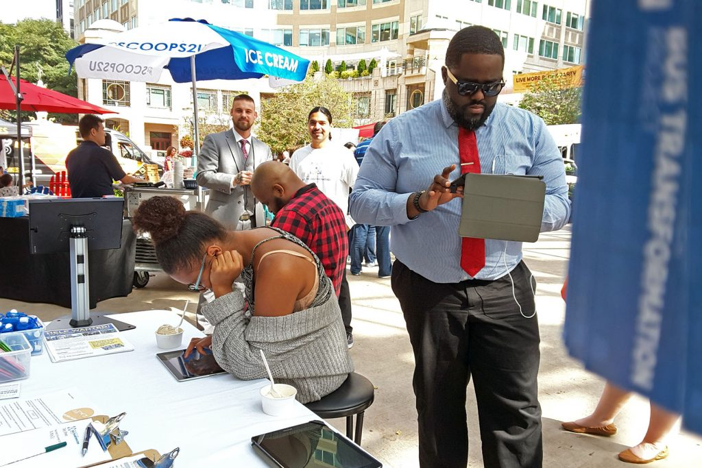 People at the Reston Town Center Event