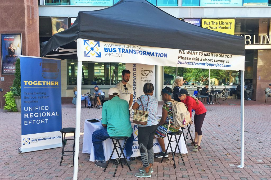 People at the Village at Shirlington Event