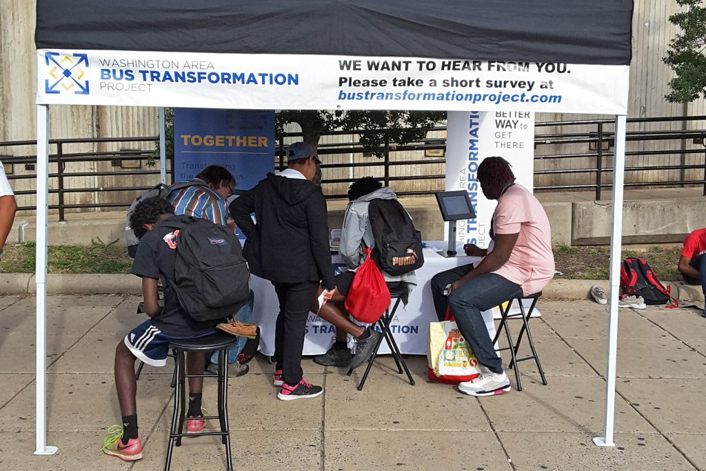 People at the Wheaton Metrorail Station Event