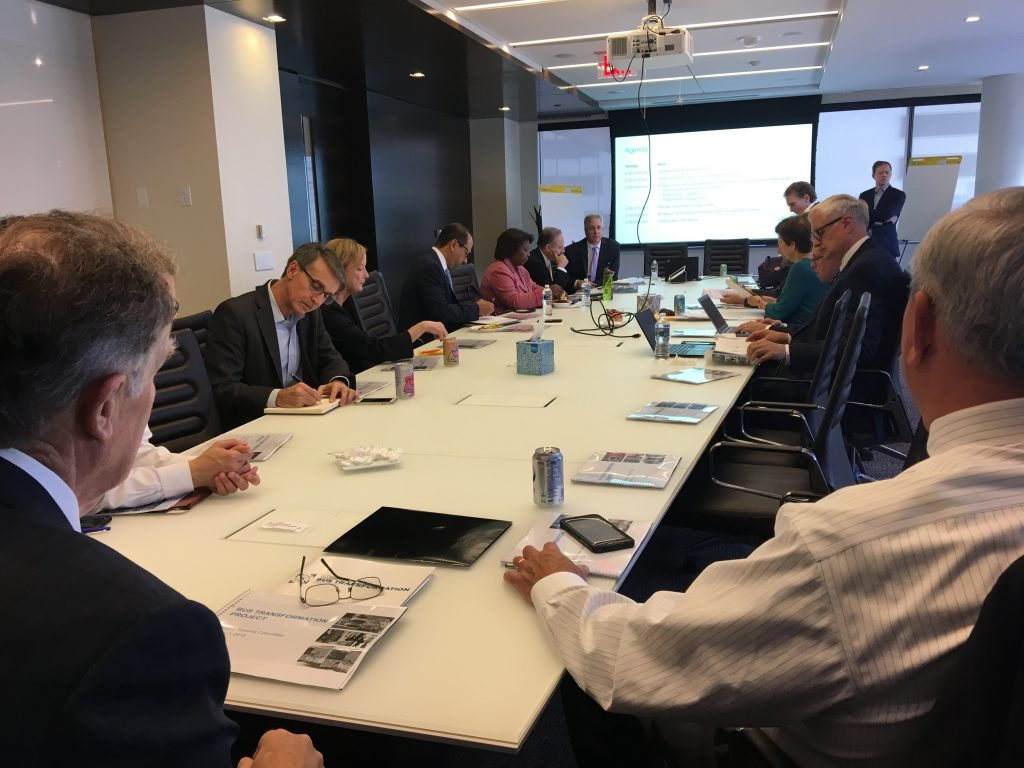 ESC meeting members sitting at table