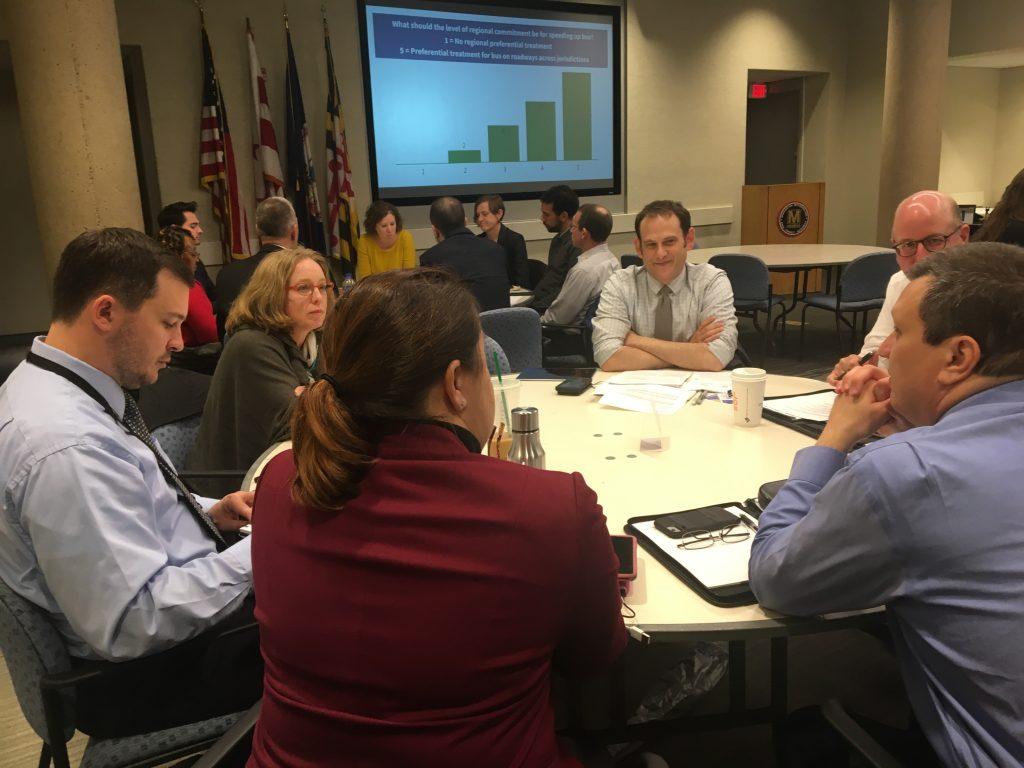 SAP meeting members sitting at tables