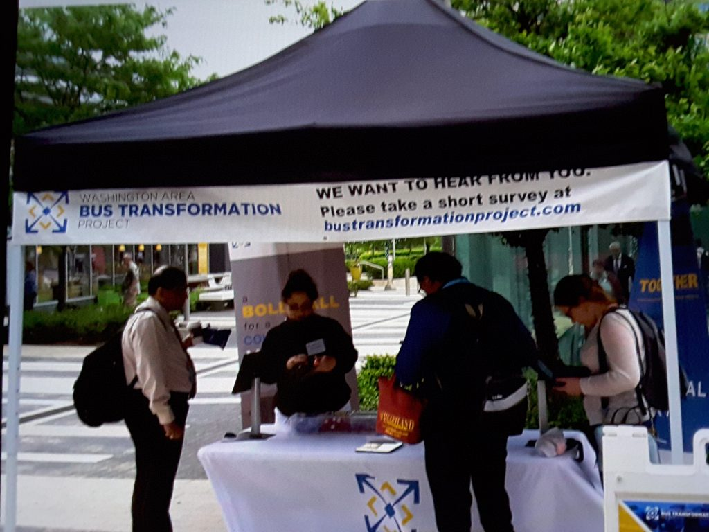 Wiehle-Reston East Station event booth