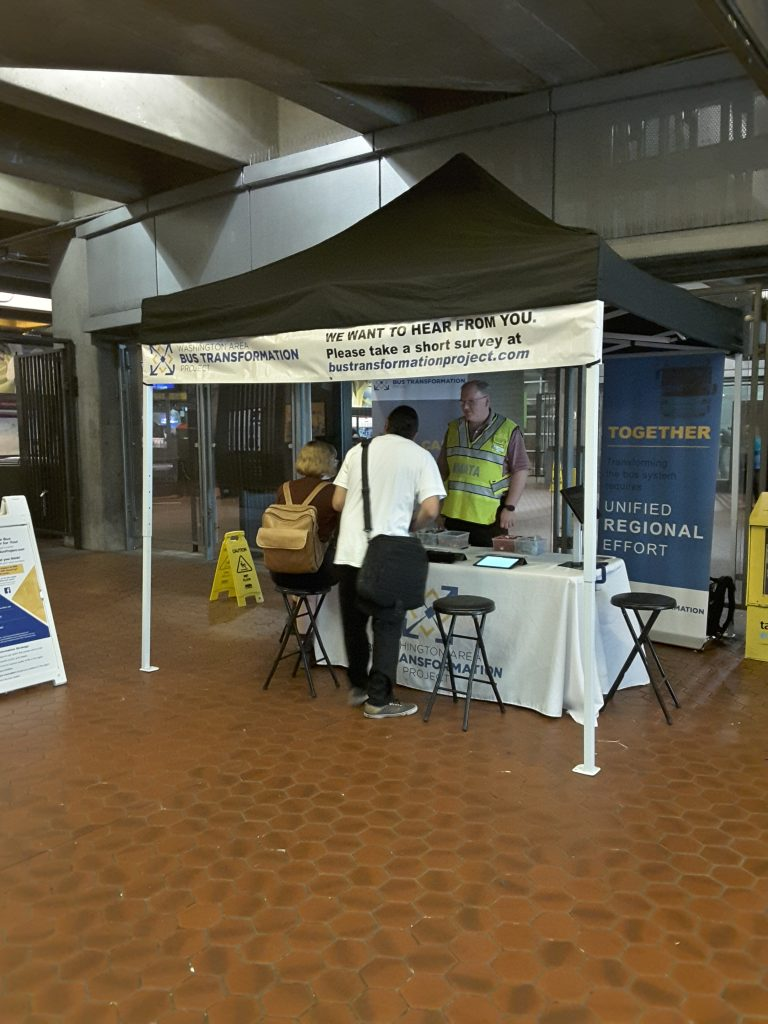 Rosslyn Metro Station event booth