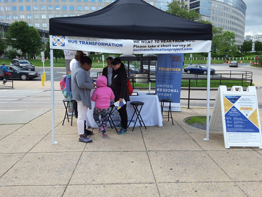 New Carrollton Metro Station event booth