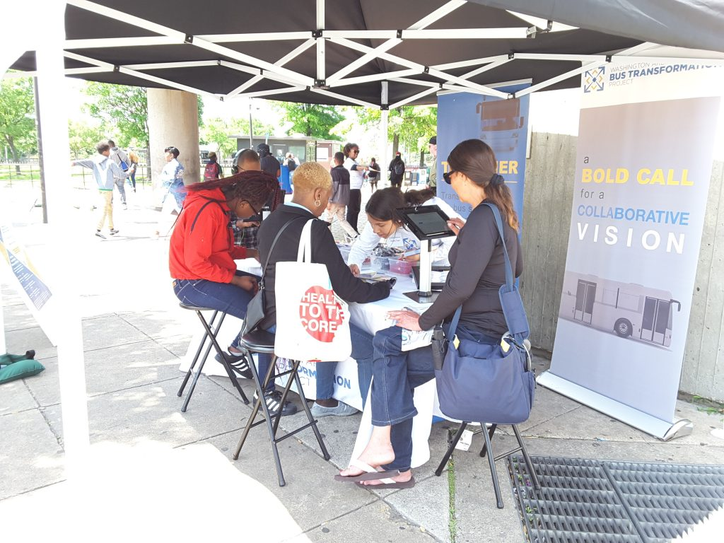 Anacostia Metro Station event booth