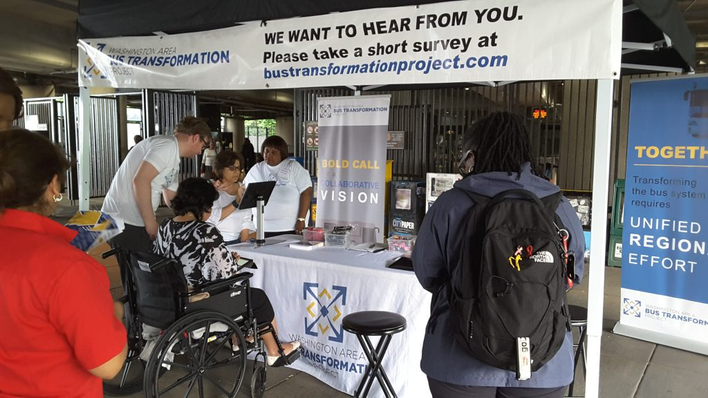 Fort Totten Metro Station event booth