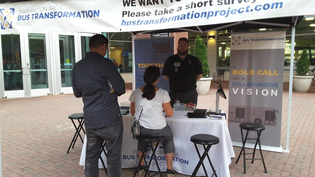 Village at Shirlington event booth