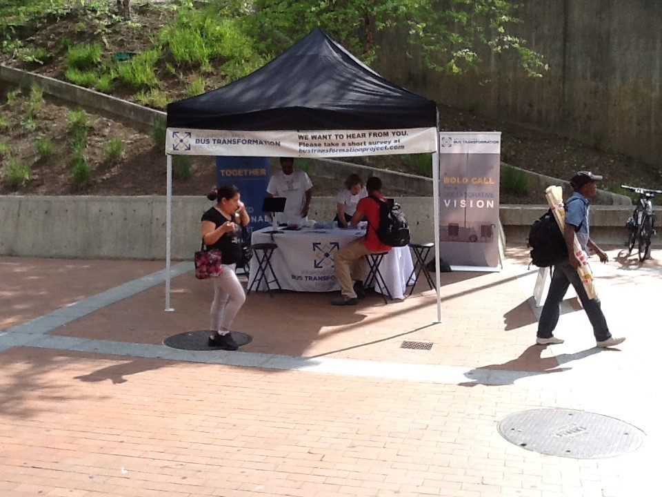 Silver Spring Paul S. Sarbanes Transit Center event booth