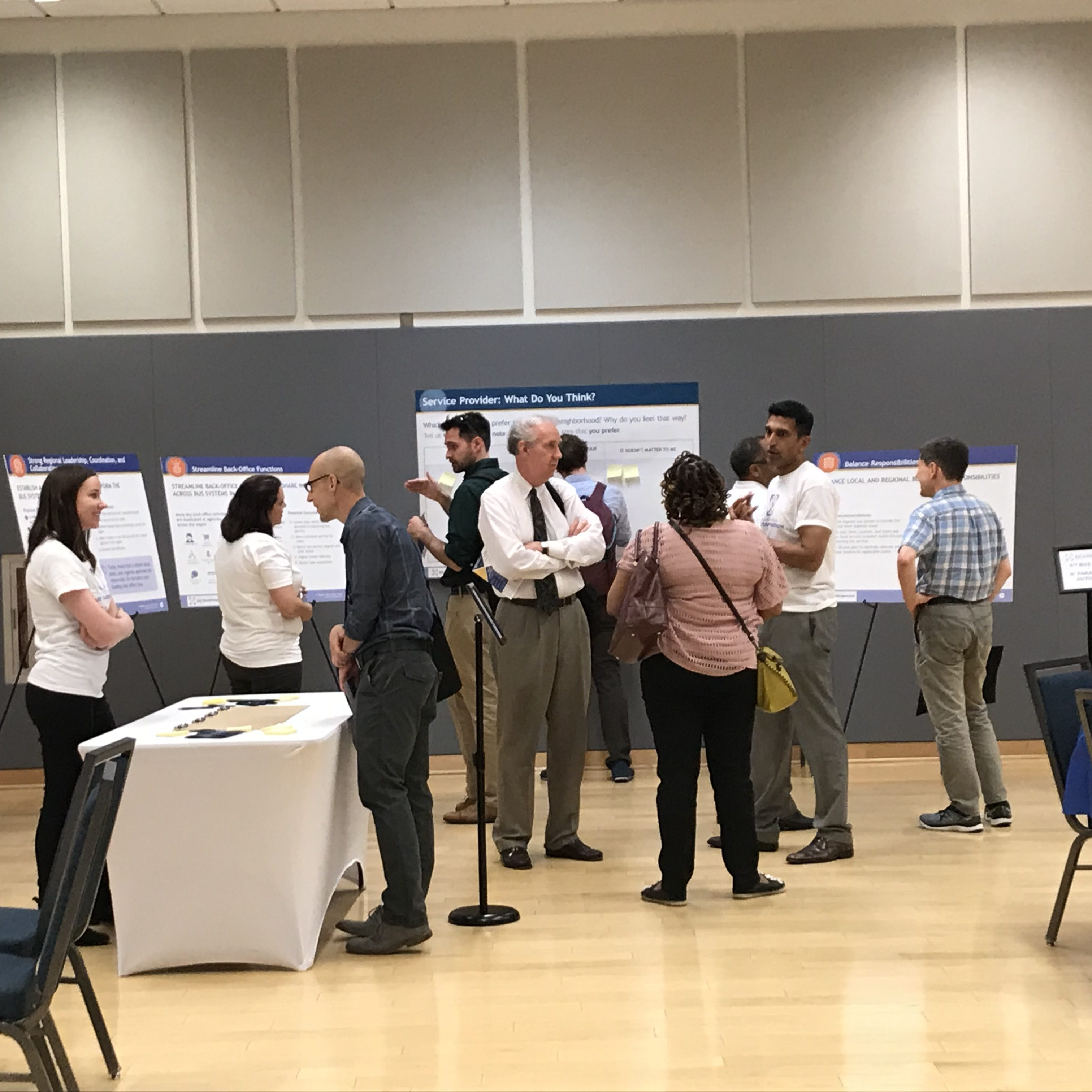 People gathered at Virginia open house