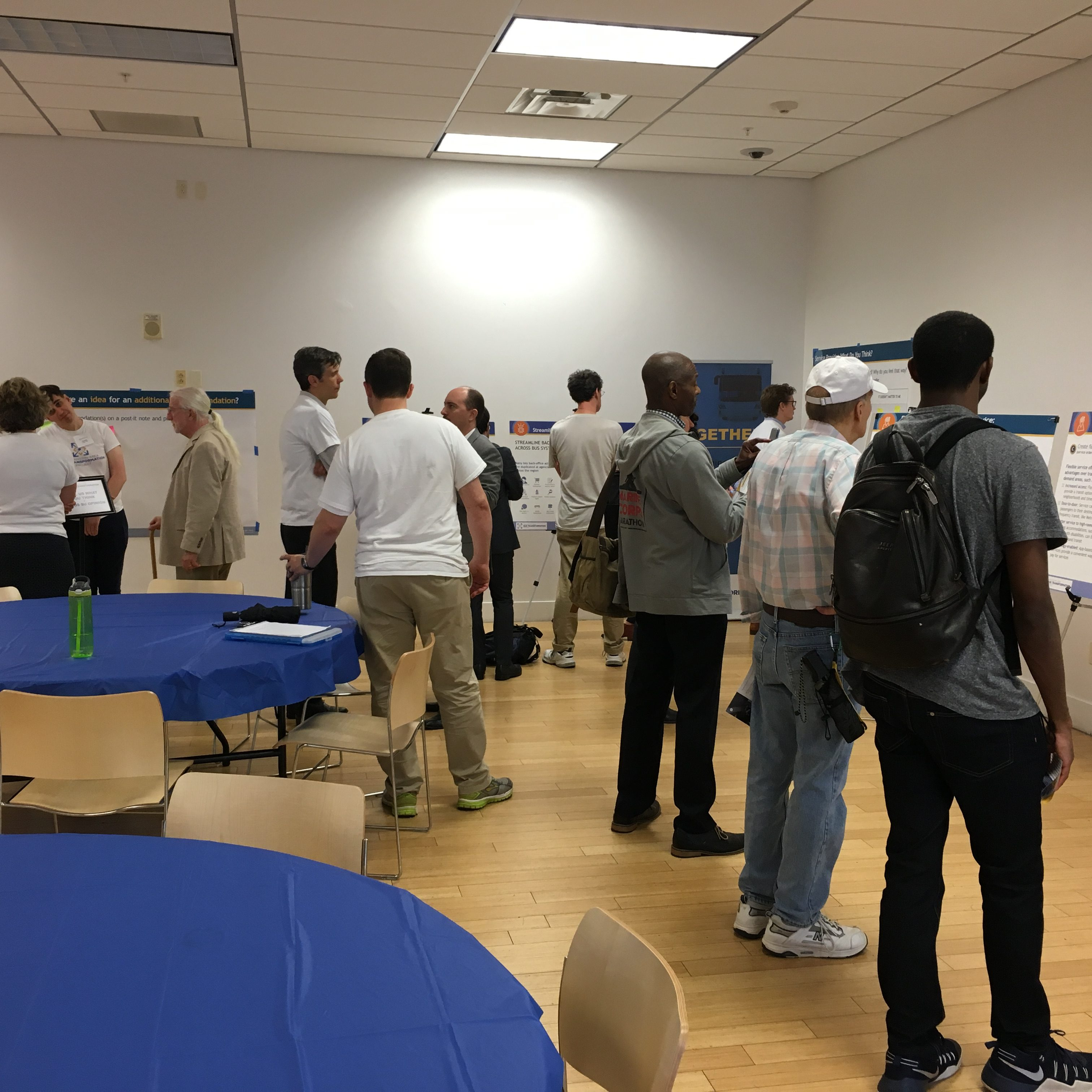 People gathered at the Maryland open house