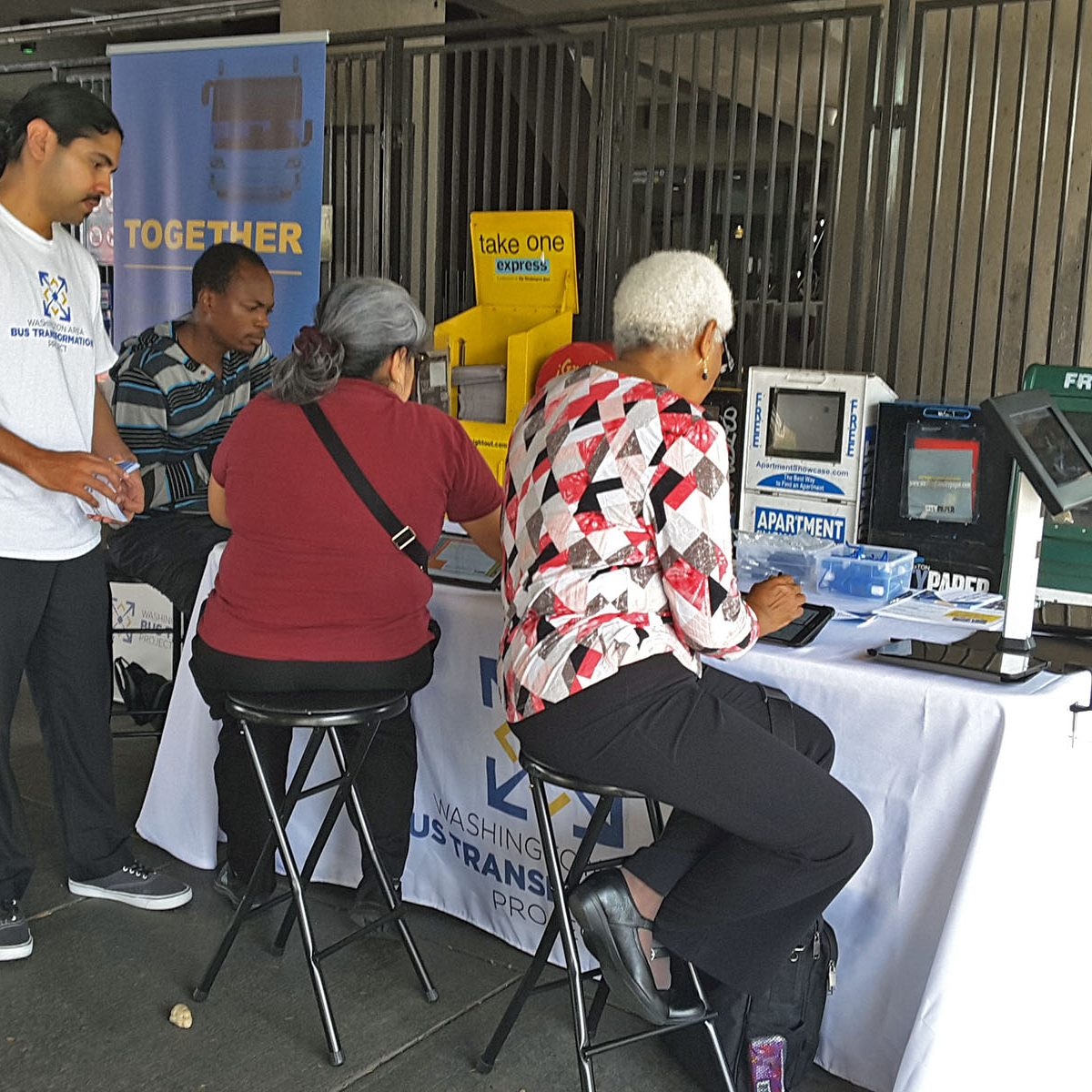 People at the Fort Trotten Metrorail Station Event